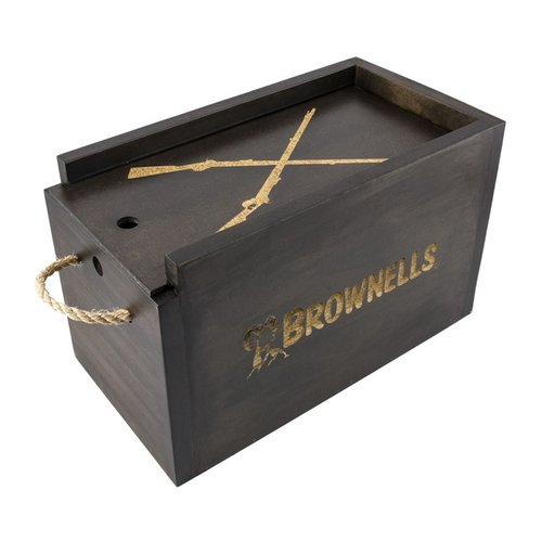 Brownells Decorative Wooden Ammo Box