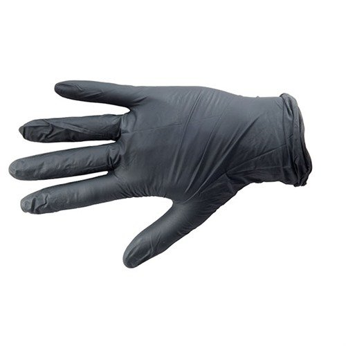 Black Nitrile Industrial Glove, Textured, Medium