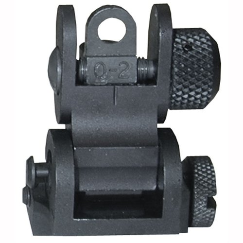 AR-15 Flip-Up Tactical Rear Sight Black