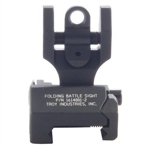 AR-15 Flip-Up Adjustable Rear Sight Black