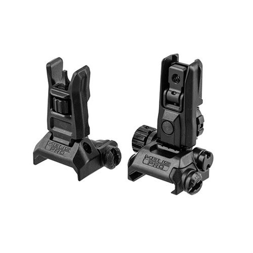 AR-15 Flip-Up MBUS Pro LR Sight Set Black
