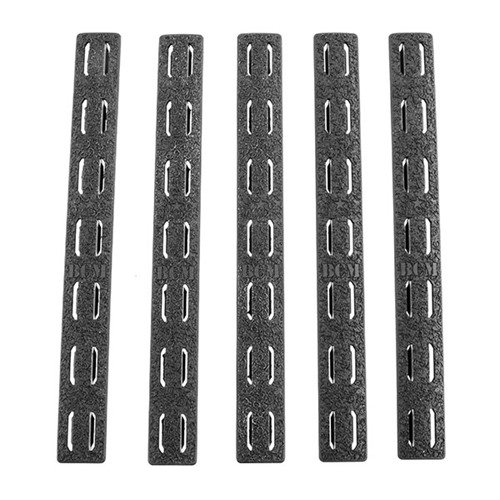 Rail Panel Kit 5-Pack Keymod Rubber Black 5.5""