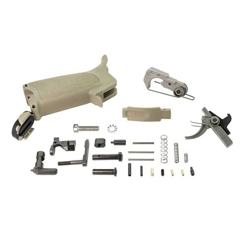 BCMGUNFIGHTER AR-15 Enhanced Lower Parts Kit, FDE