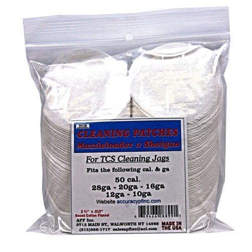 TCS Cleaning Patches 50 Caliber Muzzleloader-12 Gauge