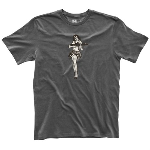 Men's Fine Cotton Hula Girl T-Shirt New Charcoal 2X-Large