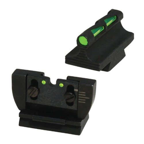 Ruger® 10/22® Fiber Optic LITEWAVE Sight Set Black