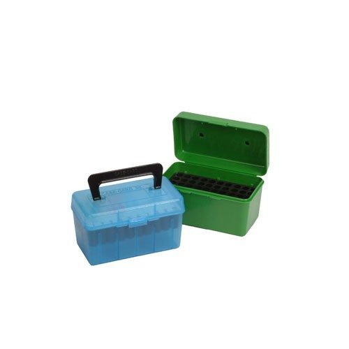 Ammo Boxes Rifle Blue  22-250 Remington - 308 WInchester 50